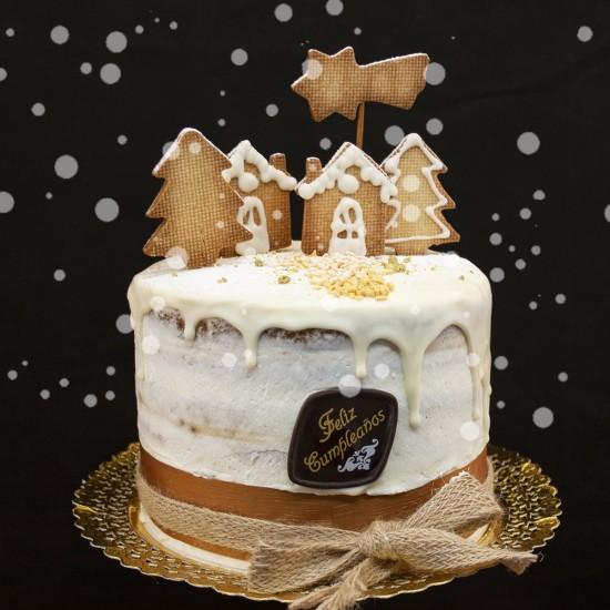 Tarta Drip Cake de Navidad